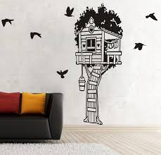 140cm Tall Forest Tree House Birds Wall Home Stickers Vinyl Decal Removable Mural Diy Art Wall Stickers For Kids Room D828 Sticker For Kids Room Wall Stickers For Kidsart Wall Sticker Aliexpress