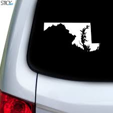 Maryland Md Decal For Car Window Stickany
