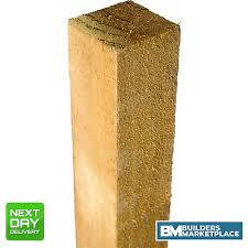 Timber Fence Posts 3x3 4x4 6x6 Treated Timber Fencing Gate Post 75mm 100mm 150mm Ebay