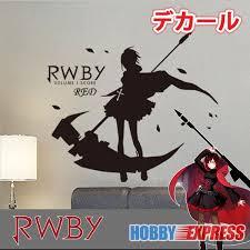 New Ruby Rose Rwby Anime Wall Decal Japanese Waterproof Vinyl Multifunction Decorative Sticker Bosti011 Sticker Stock Sticker Laptopstickers Dunlop Aliexpress