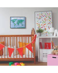 Amazing Deals On The Kids Room By Stupell 16 In X 20 In Kids World Map Colorful Nursery By Daphne Polselli Framed Wall Art Multi Colored