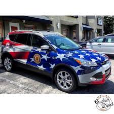 Ford Escape Wrapped In Custom Printed Avery 1005ezrs Vinyl