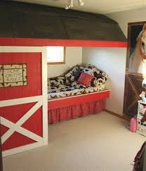 Horse Stall In The Wall Themed Kids Room Country Bedroom Cowgirl Room