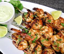 Grilled Lime Cilantro Shrimp Skewers ...