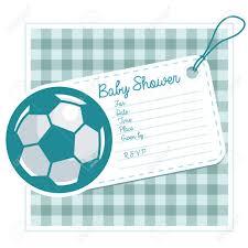 Baby Shower Tarjeta De Invitacion Con Balon De Futbol