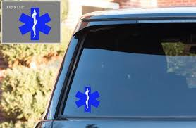 Blue Star Of Life Car Decal Star Of Life Sticker Ems Car Etsy
