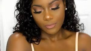 darkskin natural glam makeup tutorial