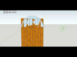 How To Make Three Different Types Of Curved Designs For Top Of Wood Fence Gate Youtube
