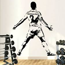 Soccer Wall Sticker Football Athletes Vinyl Wall Decals Wallpaper Football Game Fan Bedroom Decor Accessories X286 Leather Bag