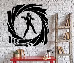 Wall Vinyl Decal James Bond 007 Spy British Secret Service Interior De Wallstickers4you