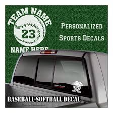 Custom Baseball Softball Vinyl Decal Car Window Sticker Personalized Fundraiser Sports Team