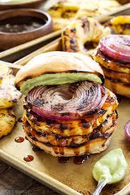 teriyaki turkey burgers with grilled