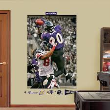 Ed Reed Playoff Interception In Your Face Mural Baltimore Ravens Ed Reed Baltimore Ravens Raven