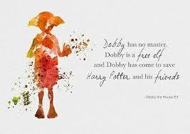 harry potter dobby cita brillante de pared arte cartel impresion