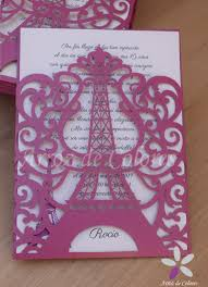 30 Invitaciones Torre Eiffel Caladas 15 Anos Tarjetas Boda