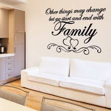 love heart family wall sticker quote wall chimp uk