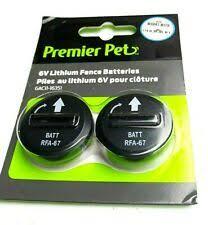 Premier Pet 6v Lithium Fence 2 Batteries 1 2020 For Sale Online Ebay