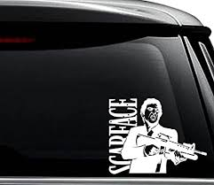 Amazon Com Scarface Tony Montana Decal Sticker For Use On Laptop Helmet Car Truck Motorcycle Windows Bumper Wall And Decor Size 20 Inch 50 Cm Wide Color Gloss Black Arts Crafts Sewing