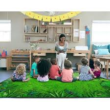 Shop Flagship Carpet Kids Nylon Rainforest Frogs Classroom Seating Rug 10 6 X 13 2 10 6 X 13 2 On Sale Overstock 27543286