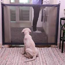 Dog Door Portable Folding Protection Product Grid Magic Pet Dog Baby Protective Guardian Child Baby Fence 72 X 110cm Houses Kennels Pens Aliexpress