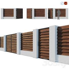 3d Models Fence Fence Termowood Jalousie