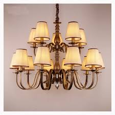 large antique brass pendant chandelier