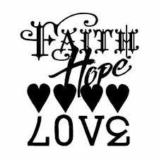 Faith Hope Love Vinyl Decal Sticker