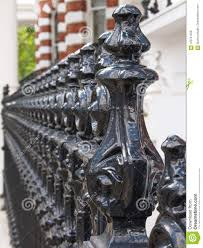 Perspective View Of Cast Iron Fence In London Stock Photo Image Of Iron Gorgeous 123741558