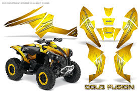 Can Am Renegade Graphics Kit By Creatorx Decals Stickers Cold Fusion Yellow Ebay