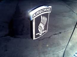 173rd Airborne Emblems Get Rid Of Those Old Faded Decals And Slap Some Nice Chrome On Your Vehicle Ride With Pride Airborne 4th Infantry Division Emblems