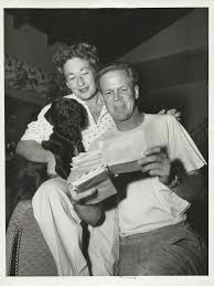 0 Dan Duryea with Wife helen bryan with their dog   Duryea, Famous couples,  Classic hollywood