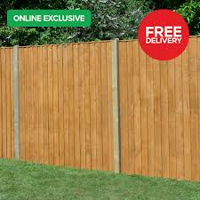 Feather Edge Treated Timber Fence Panel 6ft X 5ft Pack Of 20 Howarth Timber