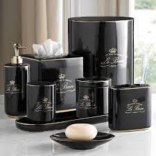 kassatex le bain black accessories