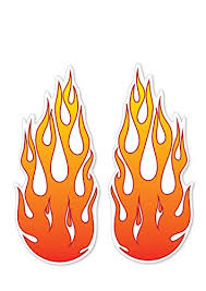 Landing Designs 2 X Large Flame Fire Funny Kids Car Van Decal Stickers Buy Online In Cayman Islands Landing Designs Products In Cayman Islands See Prices Reviews And Free Delivery