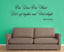 Bob Marley One Love Wall Quote Vinyl Sticker Decal Art Home Garden Indian South Asian Tapestries