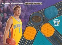 2007-08 Bowman Elevation - Rookie Remnants Triple 39 #RTR-AHA Adam Haluska    Trading Card Database