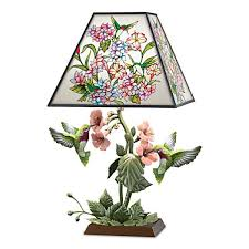 light stained glass hummingbird lamp