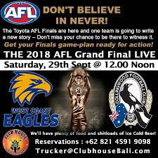 watch the AFL Grand Final in Bali ...