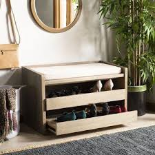 Byron Wood Storage Bench in 2020 | Wood storage bench, Bench with shoe  storage, Rustic furniture