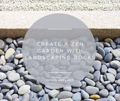 zen garden with landscaping rocks