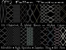 Second Life Marketplace Ft Fallen Textures Full Perm Textures Chain Link Metal Fences Alpha 20 Textures