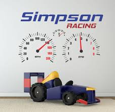 Racing Decal Racing Wall Decal Personalized Racing Decor Etsy Custom Vinyl Lettering Wall Decals Vinyl Wall Lettering