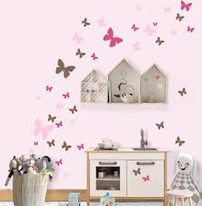 Pretty Girls Room Decor Idea With Butterfly Wall Decals Buy Online