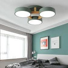 Metal Round Semi Flush Ceiling Light Kids Bedroom 3 Heads Nordic Style Candy Colored Light Fixture In White Warm Beautifulhalo Com