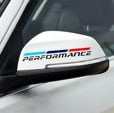 2 Pcs Graphics M Performance Car Sticker Vinyl Rearview Mirror Decal Fit Bmw Ebay