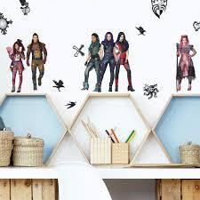 New Descendants 3 Peel Stick 28 Wall Decals Disney Wall Stickers Boys Favorite Characters Walmart Com Walmart Com
