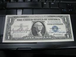 Ivy Baker Priest / Robert Anderson Treasury Dual Signed $1 1957 Silver Cert  Nice | eBay
