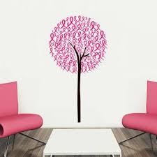 Ebern Designs Piche Cancer Awareness Ribbon Tree Vinyl Wall Decal Wayfair