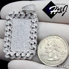 925 sterling silver lab diamond iced