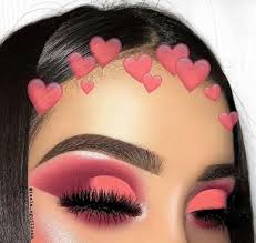 beauty makeup looks pink and half cut